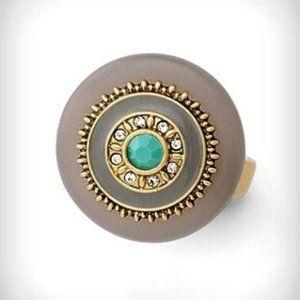 Lia Sophia Olympus Matte Gold Ring 10 NWOT